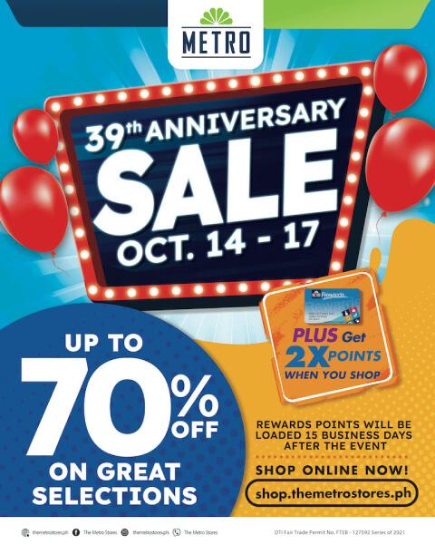 The Metro Stores - Anniversary Sale
