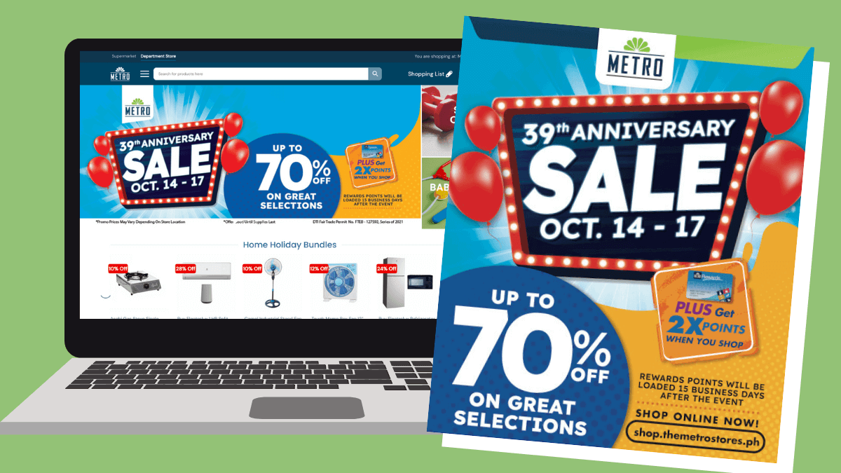 Read more about the article The Metro Stores  goes ALL OUT with P39 deals, up to 70% off for its 39th Anniversary Sale