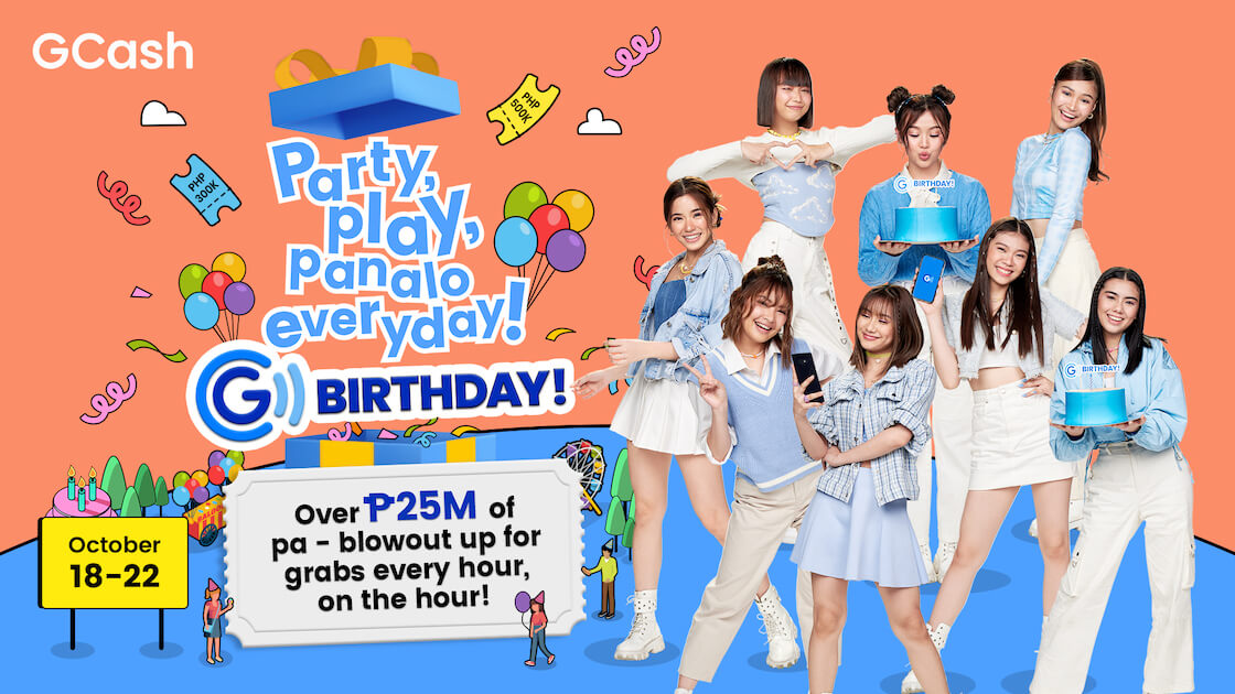 Read more about the article Party, Play, Panalo Every Day! Here's why we can't wait for the GCash GBirthday happening this October 18-22!